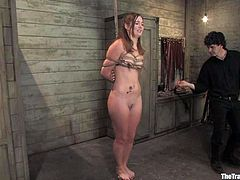 Hot bitch Savannah West is having fun with Maestro. She lets the man tie her up and enjoys his dick in her soaking wet pussy.