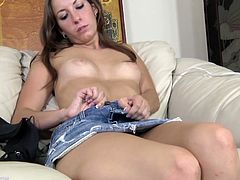 Press play on this hot video where the hot Sydney Thomas has a great time masturbating with a vibrator as you hear her having an orgasm.
