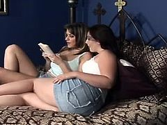 Dude, you're welcome to jerk off like a mad one along with Fame Digital sex clip. Wondrous brunette are far from being modest. Shameless brunette lesbos get rid of tops to boast of pale big and droopy boobs. Then gals with rounded big asses rub clits on the wide bed to gain some delight.