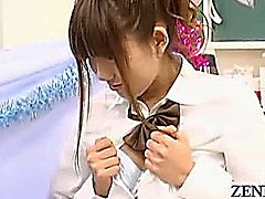 Volumes can be written about the Japanese night industry aka water trade that acts as the unseen and unheard backbone of city life yet not all outfits work under the curtain of darkness such as this bizarre schoolgirl peeping cafe where gyaru in uniforms allow patrons to masturbate with subtitles