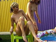 Don't skip this exciting lesbian sex video produced by Seventeen Video porn site. Two alluring girls play with each others tits and kiss each others hot.