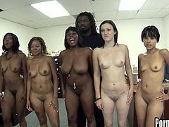 Hot ebony gets fucked hard