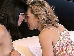Two beautiful lesbian kittens Bobbi Starr and Lily LaBeau are having a lot of delight together right here, right in this action! Nymphs stay nude before playing with twats