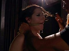Obedient brunette Samantha Bentley gets smothered and skull fucked by Rocco Siffredi in the semi-dark for blonde Mira to watch. Watch submissive girl get ruthlessly used by hard cocked brutal guy.