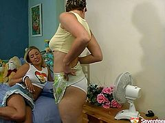 Dude, you'd better check out this hot like hell Seventeen Video xxx clip. Zealous brunette and blond teens get rid of short skirts and tight tops, cuz it's high time to wankerbate. Wondrous slender gals with sweet tits and rounded asses are ready for teen sex. They love eating and spooning wet juicy pussies for orgasm. Don't miss a chance to jerk off and jizz right here and now!