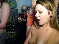 hot girls at a real slut party