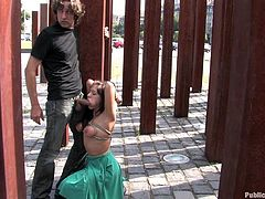 A hot bondage sex scene outdoors in public how fucking great is that? How fucking turn on is fucking that? Check it out right here!