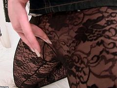 Ga-ga over hot compilation sex clips? Then you will love this one where bunch of cute and horny sluts in lacy pantyhose stroke their wet cunts through lingerie.