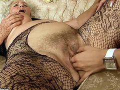 Mesmerizing young babes make out with ruined shabby grannies. They finger intensively their hairy pussies before they tongue fuck them in perverse sex video by 21 Sextury.