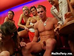 Breathtaking gangbang party with extremely hot chicks