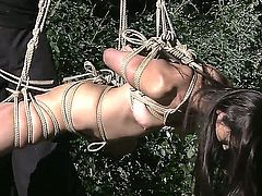 Marica Hase is a nasty slave who gets tied in ropes by her horny master