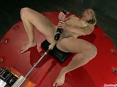 Bella Bends will get both her pussy and asshole destroyed by a fucking machine today and she's gonna love it!