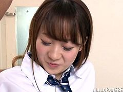 Sumire Asada is a cute schoolgirl who is entertaining a creepy old man. He fondles her breasts and then opens up her legs and sticks his gross fingers in her sweet shaved cunt. After that, he sticks his face deep in her vagina and eats her out.