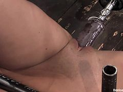 This chick is going to be fixed to the ground in this bondage session right here that gets kinky as fucking fuck, check it out!