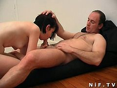 Watch a sexy French brunette trying some very interesting poses while her hot ass gets banged balls deep into a massive anal orgasm.