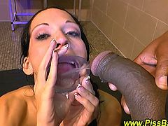 Gangbang and golden shower orgy