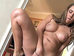 Wanna watch hot cutie Ella Milano staying in high heeled shoes only before masturbating very well Then watch this video clip that would make your dick hard very fast!