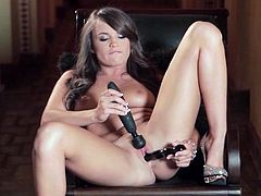 Teal Conrad uses two toys to turn on her pussy
