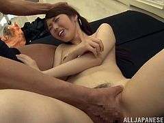 This smoking hot and filthy Japanese siren Yii Tsubaki doesn't care where to have sex. This time a wave of sexual temptations attack her in her super market!