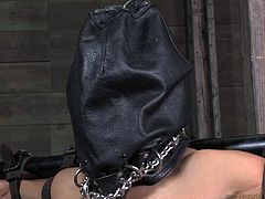 Cheap whore Sheila receives the treatment she deserves. She's down on her knees with a bag on her head and awaits the executor. She doesn't need to wait long because a black guy comes in, approaches and takes off the bag to fuck her throat with his bbc. That was only for the warm up,. Join us and watch more.