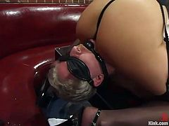 Kym Wilde is going to tie a guy up and then proceed to torture his tiny cock and balls and face sit him in this femdom vid.