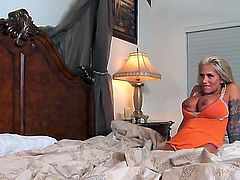 Busty MILF Farrah loves using her large melons to wank a hard dick. When she manages to stiff up a boner, she uses her wet lips to suckle it.