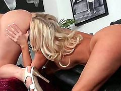 Watch the nice lesbian porn with Dayna Vendetta and Molly Cavalli. Hotties with nice juggs and cool asses are going to stay naked before starting to caress on camera.