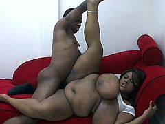Massive tits ebony for monster black cock in this lewd pussy stuffing that is as greasy as possible but definitely horny.
