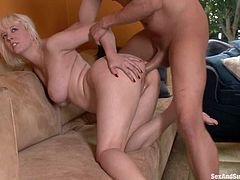 Kinky Cherry Torn gets fucked in the ass by her master