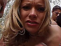 Briana Banks in a scene from Gangbang Auditions 5