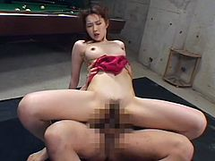 Naughty japanese babe enjoys rough sex and deep penetration during top asian hardcore