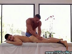 Passionate gay lovers romantic penis oral and sweet anal rimjob