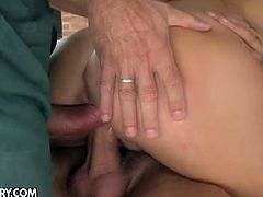 In this totally hardcore scene Aletta Ocean proves once again that she's an insatiable slut addicted to big hard cocks. She tales  four hung guys at the same time and the wid gangbang begins.