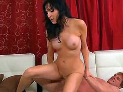 Black haired hottie Diana Prince with big fake balloons and fit sexy body gets fucked hard to loud orgasm by famous mature pornstar Evan Stone with rock hard cock.