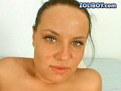 This oiled brunette is ready to demonstrate you her ass hole talents for free. She gets her anus plugged with toy in doggy style and later gaped.