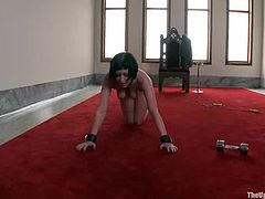 Sexy Cherry Torn is a sex slave. She does everything her master tells her to do. You will watch this video with pleasure because everyone would be happy to have a sex slave!