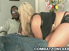 Busty and big ass bitch Julie Cash is involved into some hardcore pumping by a big black cock. She takes it up her cunt and moans loud on it!