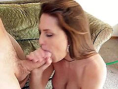 Great hardcore action as this hunk gets to fuck his girl friends busty friend, Allison Moore. Staring Allison Moore and Jerry. Hot and horny as this sexy babe gets fucked in all different positions before he cums over those big tits of hers.