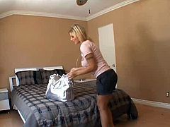 Horn-mad busty and booty pale blondie is a versatile slut. This bitch cleans the house of two black dudes and gonna win their strong BBCs. Slutty chick shows her sucking skills on a sex toy and kneels down in front of black studs to unzip their pants.