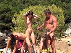 WTF Pass sex clip will show the way a real summer vacation must go. Lots of slender and booty brunettes go wild right on the beach and get their wet pussies fucked doggy tough. I bet their loud groans of delight can be heard all over the beach.