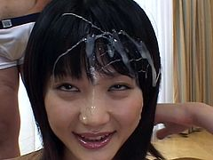 Amazing asian slut loves having her face filled with cream during japanese bukkake orgy
