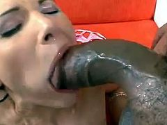 Monster cock sex leaves brunette with a mouthful of cum