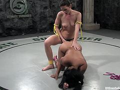 Get a load of this Ultimate Surrender scene where these horny ladies have orgasms playing with one another in the middle of the ring.