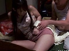 Sizzling Japanese girl Yui Hatano is having fun with some man indoors. She shows him her sweet coochie and then gets it stroked passionately.