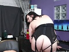 Ryan McLane enjoys in his visit to a tattoo studio and gets his hard bazooka sucked by a heavy chested dark haired and tattooed honey on her knees with lots of passion