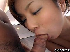 Yu Kazuko is definitely one of the bustiest Asian girls out there for sure as she has the most impressive big tits that you will be seeing bouncing like there is no tomorrow as she gets fucked in her tight hairy pussy and ass.