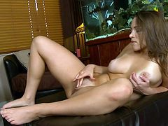 Horny fucking chick gets naked and sticks her fingers right in her horny fucking pussy, hit play and check it out right here!