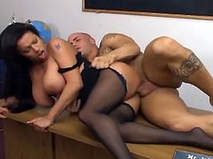 Busty alexis silver fucked in pantyhose