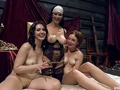 Felony the horny nun punishes two girls. These babes get tortured and then toyed in their tight asses.