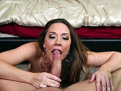 Oral pleasures with a divine chick Chanel Preston. Babe shows how sexy she is and then goes for a blowjob. Fuck her face and cum on it. Hot POV
